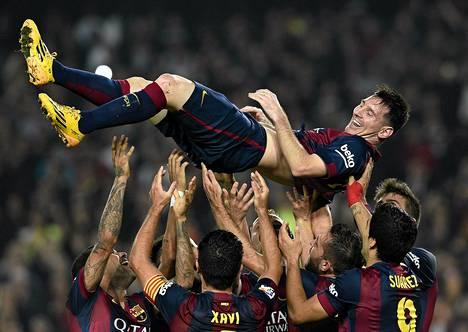 Messin maaliennätystä Espanjan liigassa juhlittiin lauantaina.