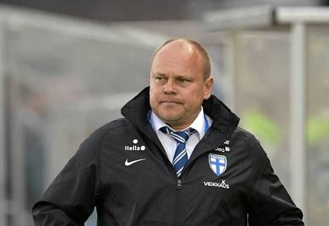 Jalkapallomaajoukkueen päävalmentaja Mixu Paatelainen.