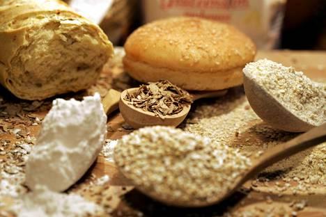 Kuvassa gluteenittomia tuotteita keliaakikolle.