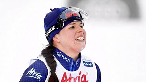 Krista Pärmäkoski on yltänyt tämän kauden maailmancupissa vain kerran kolmen parhaan joukkoon. Se tapahtui kauden avauksessa Rukalla