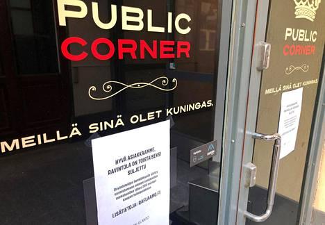 Helsingin Mikonkadulla sijaitseva seurusteluravintola oli sulkeutunut maanantaina. Muiden HOK-Elannon ravintoloiden tapaan henkilökuntaa on siirretty töihin ruokakauppoihin.