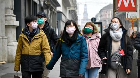 Ulkoministeriö kehottaa välttämään Pohjois-Italiaan matkustamista. Kuva helmikuulta Milanosta.