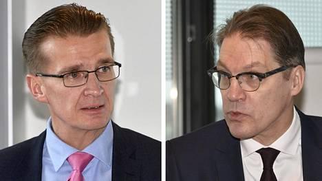 Ilmarisen toimitusjohtaja Jouko Pölönen ja Ilmarisen toimitusjohtaja Risto Murto.
