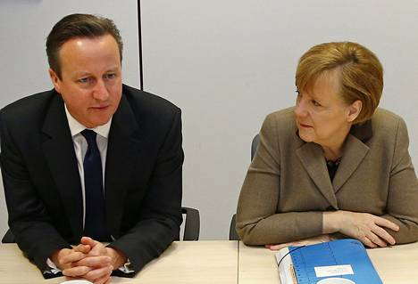 Britannian pääministeri David Cameron tapasi Saksan liittokanslerin Angela Merkelin maaliskuussa Brysselissä.