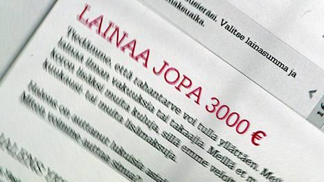 Oikeusministeriö ryhtyy valmistelemaan korkokattoa myös vähintään kahden tuhannen euron lainoihin.