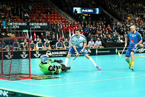 Eemeli Salin vei Suomen 1-0 -johtoon Ruotsia vastaan.