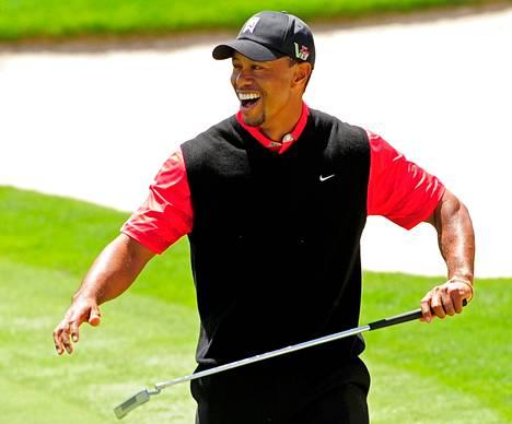 Tiger Woods käytti puttimailaansa ajoittain yhtä ilmiömäisesti kuin parhaina päivinään.