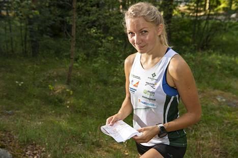 Marika Teini vuonna 2018, jolloin hän voitti keskimatkalla Euroopan mestaruuden ja MM-hopeaa.