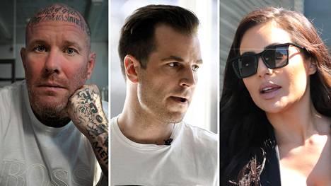 Janne Tranberg ja Niko Ranta-aho olivat pääsyytetyt Katiska-jutussa. Sofia Belórfia puolestaan on syytetty Ranta-ahon huume- ja dopingrahojen pesemisestä.