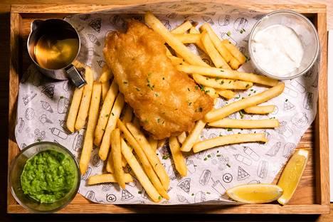 Fish and chipsissä kala oli kohdallaan mutta perunoihin jäi parantamisen varaa.