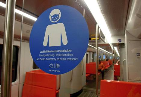 Helsingin seudun liikenteessä on otettu käyttöön maskipakko. Myös matkustajamääriä kulkuvälineissä on rajoitettu.