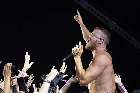 Imagine Dragons esiintyi Del Marissa Kaliforniassa viime syyskuussa. Kuvassa laulaja Dan Reynolds.