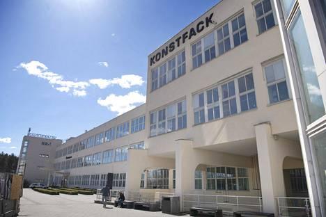 Taidekorkeakoulu Konstfack toimii LM Ericssonin vanhassa kiinteistössä Telefonplanilla.