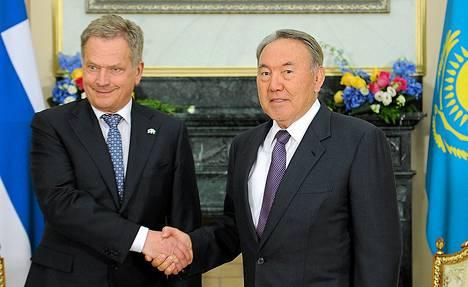 Presidentti Sauli Niinistö tapasi Kazakstanin presidentin Nursultan Nazarbajevin tiistaina Astanassa.