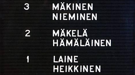 Suomen yleisimpien nimien kärkeä hallitsevat nen-loppuiset sukunimet.