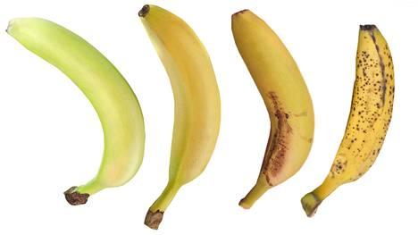 Minkä näistä söisit mieluiten? Banaanin ravintosisältö muuttuu, kun se ikääntyy.