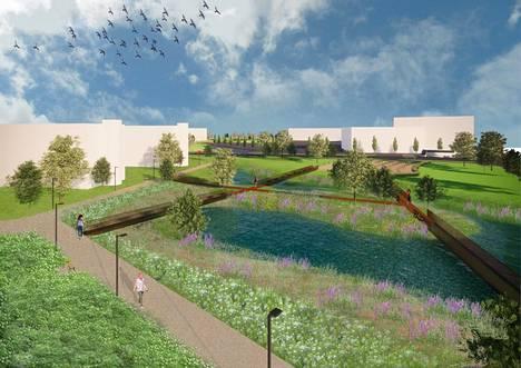 Vantaan Aviapolikseen suunnitellaan hulevesipuistoa.
