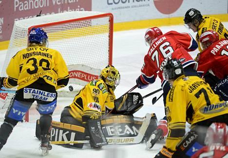 KalPa pelasi 3. maaliskuuta HIFK:ta vastaan Helsingissä.
