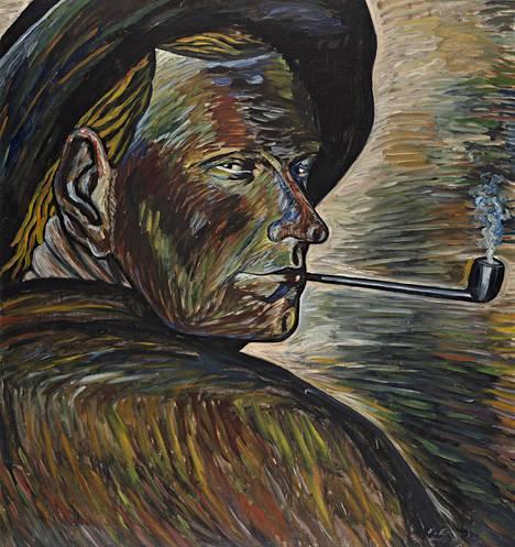 Vilho Lampi: Omakuva, 1929, öljy.