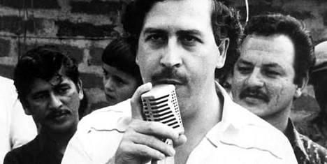 """""""Huumeparoni"""" Pablo Escobar."""