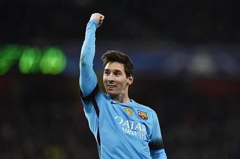 Lionel Messi teki ensimmäisen maalinsa ikinä Petr Cechin taakse. Kuusi ottelua kestänyt taika murtui.