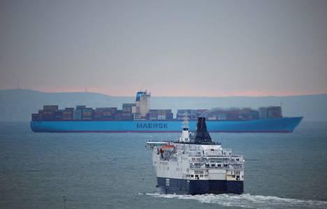 Liikennettä Englannin kanaalissa tammikuun puolivälissä 2021.