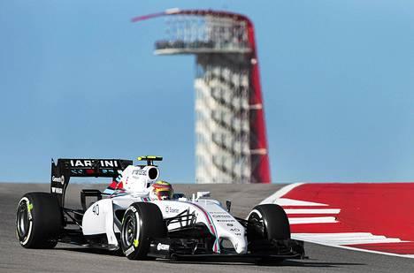 Felipe Nasr ajoi Williamsin autoa Austinin gp:n perjantain harjoituksissa.