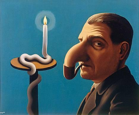 René Magritte: Filosofian valossa, 1936.
