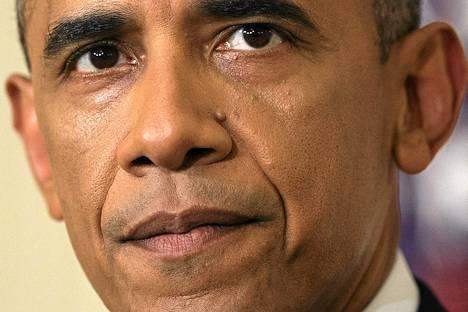 USA:n presidentti Barack Obama piti lehndistötilaisuuden Valkoisessa talossa Washingtonissa torstaina.
