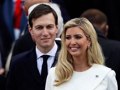 Ivanka Trump osallistui miehensä Jared Kushnerin kanssa Donald Trumpin virkaanastujaisiin tammikuun lopulla.