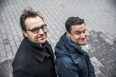 Sijoittajayrittäjät Timo Ahopelto (vas.) ja Moaffak Ahmed ovat miettineet vuoden ajan, miten Helsingistä tehtäisiin yksi Euroopan merkittävimmistä kasvuyrityskeskuksista.