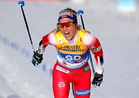 Therese Johaug on voittanut kaksi MM-kultaa Seefeldissä.