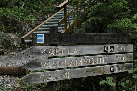 Nuuksion kansallispuistossa on useita reittejä, joita voi patikoida myös talvella.