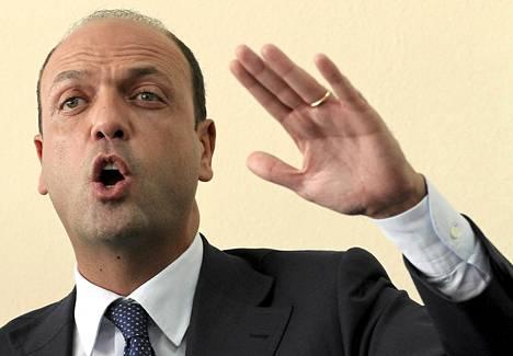 Italian varapääministeri Angelino Alfano.