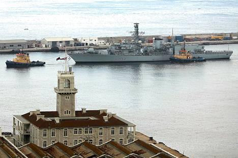 Britannian kuninkaallisen laivaston fregatti HMS Westminster saapui Gibraltariin maanantaina.