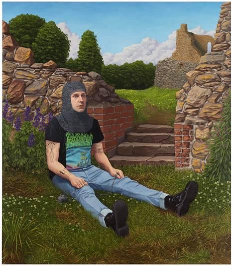 Joel Slotte: Knight Reel, 2020, oil on canvas.