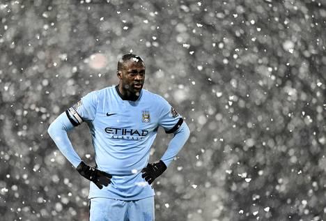 Manchester Cityn Yaya Toure teki maalin rangaistuspotkusta.