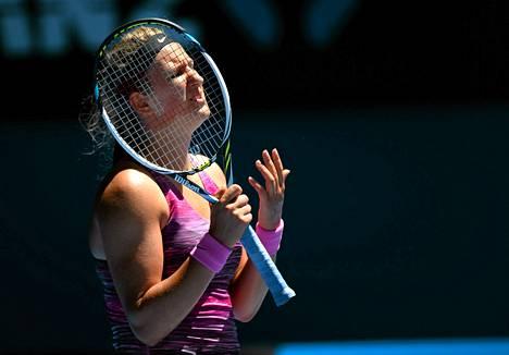 Victortia Azarenka oli pettynyt tappioonsa.