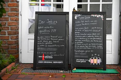 Ravintola Alte Scheune on nyt suljettuna toistaiseksi, kun tauon jälkeisessä avajaisillassa levisi koronavirus.