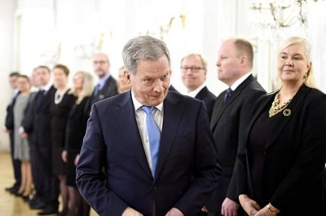 Presidentti Sauli Niinistö jakoi kansainvälistymispalkinnot Helsingissä keskiviikkona.
