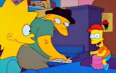 Michael Jackson esitti Simpsonien jaksossa mielenterveyspotilas Leon Kompowskyä (kesk.), joka uskoi olevansa poptähti Michael Jackson.