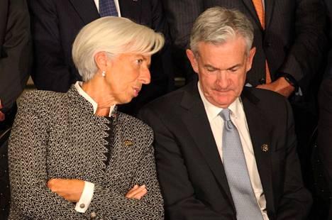 Euroopan keskuspankin pääjohtajalla Christe Lagardella ja Yhdysvaltojen keskuspankin pääjohtajalla Jerome Powellilla riittää vielä pitkäksi aikaa pohdittavaa, miten koronaviruspandemia mahdollisesti muuttaa taloutta ja rahapolitiikkaa.
