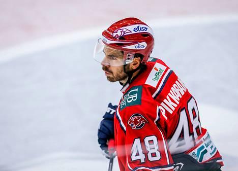 HIFK:n Hannu Pikarainen onnistui maalinteossa jatkoajalla.