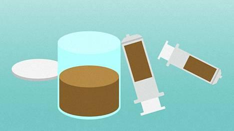 Ulosteensiirrossa ulosteneste ruiskutetaan suolistoon kolonoskopian eli paksusuolen tähystyksen yhteydessä.