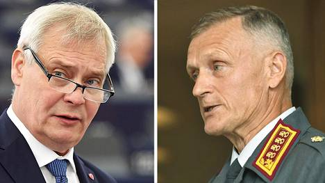 Pääministeri Antti Rinne (vas.) ja puolustusvoimain komentaja Timo Kivinen