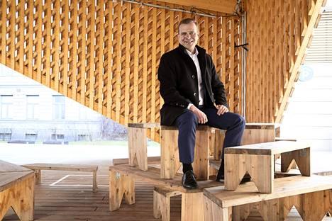 """""""Puolue menee tällä hetkellä oikeaan suuntaan. Silloin kun se näin tekee, myös puheenjohtajan on helpompi olla"""", sanoo kokoomuksen puheenjohtaja Petteri Orpo."""