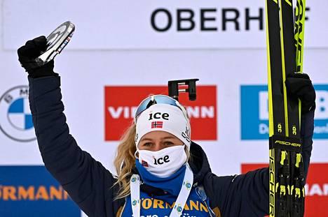 Norjan Tiril Eckhoff juhli maailmancupissa kauden kuudetta voittoaan.