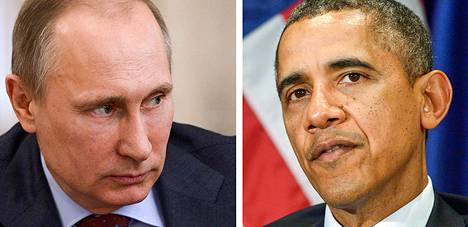 Venäjän presidentti Vladimir Putin ja Yhdysvaltain presidentti Barack Obama.