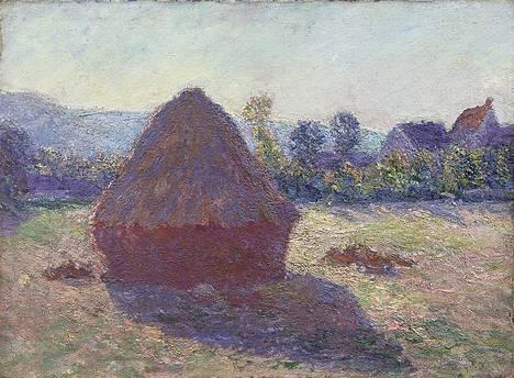 Claude Monet: Heinäsuova ilta-auringossa (1891, öljy kankaalle). Gösta Serlachiuksen taidesäätiö.