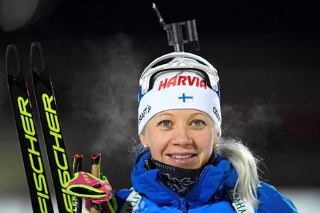 Kaisa Mäkäräinen kuvattuna 1. joulukuuta 2017.